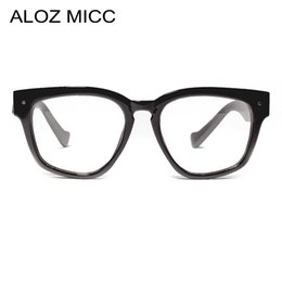 570ea2848b ALOZ MICC Women Square Glasses Frame 2019 Brand Designer Optical Glasses Men  High Quality Clear Lens Eyeglasses A656 inexpensive double frame eyeglasses