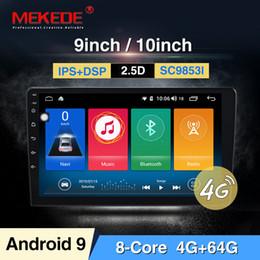 """honda civic lettore mp3 Sconti Intel SC9853 Android 9.0 2DIN autoradio 9 da 10.1"""" pollici stereo Android sistema automatico dello schermo capacitivo 2.5D GPS Bluetooth WIFI dvd"""