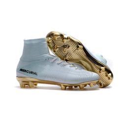 Argentina 2019 Mercurial Superfly Elite FG KJ 6 XII 12 CR7 Ronaldo Neymar Hombres Mujeres Chicos Zapatos de fútbol Botas de fútbol Tallas EE. UU. 3-11 supplier 11 soccer shoes Suministro