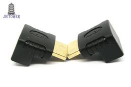 Canada 300pcs / lot L-type à angle droit à 90 ° en tournant la tête HDMI mâle vers le câble de convertisseur haute définition femelle pour la connexion de bo Offre