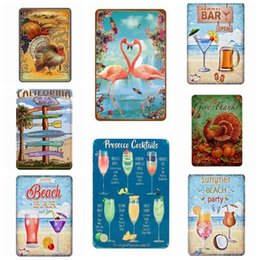 vintage oil signs Coupons - Cocktail Metal Signs Coffee Oil Home Decor Vintage Tin Signs Pub Home Decorative Plates Metal Sign Wall Plaques 30*20CM Free Shipping