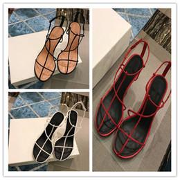2019 sandalias de tacon barato Nueva llegada del diseñador 2019 marca sexy elegante verano sandalias de mujer de lujo barato vestido de mujer zapatos de tacón alto cómodo con caja original rebajas sandalias de tacon barato