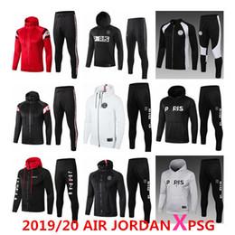 football de champions Promotion 2019/20 AIR Jordan PSG X veste à capuche PSG Ligue des Champions Survetement 2019 2020 blousons de football AIR JORDAN PSG MBAPPE POGBA soccer HOODI