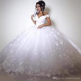 2019 vestido de flores de talla grande azul nude Vestidos de novia de encaje blanco con mangas cortas Vestidos de novia de 2019 con apliques de encaje con cuello en V por encargo