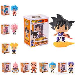 dragão bola z célula ação figuras Desconto FUNKO POP Dragon Ball Z Filho Goku Vegeta Piccolo Celular PVC Action Figure Collectible Modelo de varejo figuras de ação boneca surpresa para crianças brinquedos