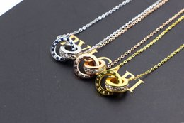 joyería de moda romana Rebajas Venta caliente Marca de moda joyería colgante Marca de moda Mujer Joyería Oro Plata Color Collar romano Joyería