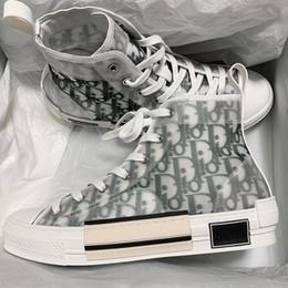 Flores Técnicas Lona B23 Alta zapatillas altas en zapatos de diseñador de lujo para hombre oblicuos Moda para mujer B22 B23 B24 B01 B02 Zapatillas de deporte Zapatos Botas desde fabricantes