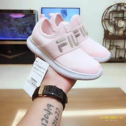 ba20900170944 2019 chaussures de bébé blanc bon marché Original FILA Original Pas Cher  Bébé Enfants Casual Chaussures