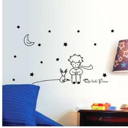 Adesivi da muro di compleanno online-libro popolare fiaba il piccolo principe con fox luna stella home decor wall sticker per bambini camere bambino bambino regalo di compleanno giocattolo