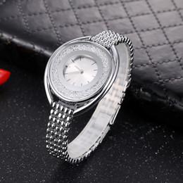 relógios a quartzo Desconto Relógio de diamante de luxo Mulheres Estreladas Relógios de Marca de Quartzo de Aço Senhoras Rose Pulseira Assista Amantes do Relógio Ocasional Menina Relógio de Pulso Relogio