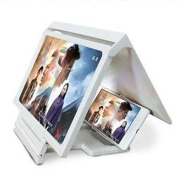 Proiettori telefonici online-Schermo del telefono Magnifier Proiettore per cellulari Amplificatore ingrandito Supporto per staffa mobile 3d Hd Supporto per film Compatibile con tutti Smartphone T190625