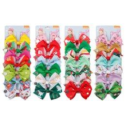 Colorida Chica Bowknot Pinza de Pelo Boutique Lindo Niño Cinta Arco Barrettes Creativo niños Navidad diseño Accesorios Para el Cabello TTA756 desde fabricantes