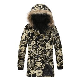 parkas for winter Coupons - MJARTORIA Vintage Winter Print Button Streetwear Plus Size For Men Casual National Style Warm Overcoat Fur Collar Hooded Parkas