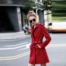 Argentina 2018 Nuevas Mujeres Chaqueta de Gamuza Compuesta con Cinturón Moda para Mujer Color Sólido Delgado Piel Deers Fleece Mujer Casual Abrigo de lana gruesa cheap woolen ladies jackets Suministro