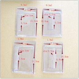 Klare blisterverpackungen online-Clamshell Blister Verpackung für Vape Patronen 1,0 ml 0,5 ml Vape Klar Box vape Patronen Verpackung 1lot = 1500pcs