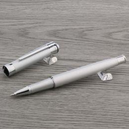 Rollerball Pen CHOUXIONGLUWEI Crown nova fosco prata dom m estudante de Fornecedores de caneta caneta por atacado
