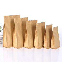 bolsas de yute hechas a mano Rebajas Ponte de pie por mayor Kraft bolsa de papel aluminizado 100pcs bolso del papel artesanal grado de papel de aluminio Zip puede volver a sellar el sello de bloqueo