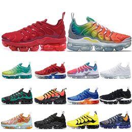 nike air vapormax tn plus Calzado para correr para hombre Lemon Lime Rainbow work bule triple blanco negro para mujer deporte zapatillas deportivas