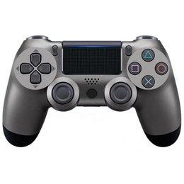 controladores de jogos sem fio Desconto Para PS4 host do controlador controlador de jogos Bluetooth quarta geração wireless com luzes PS4 Bluetooth PlayStation lidar com PS4 para Sony xbox