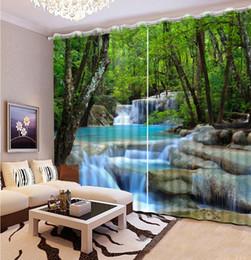 2019 vorhang falten stile Anpassen von 3D-Vorhängen nach Hause Fenster Wasserfall Wasservorhang für das Wohnzimmer Schlafzimmer stereoskopische Vorhänge