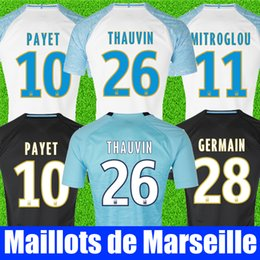 Thailand Quality 18 19 Olympique De Marseille soccer jersey 2018 2019  Marseille maillot de foot PAYET Camisetas L.GUSTAVO football shirt kit 5902b573a