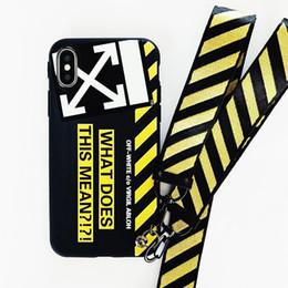 Colhedores para casais on-line-Moda quente simples carta casal phone case para iphone 6 6 s 7 8 plus x xs xr max capa mole com cordão