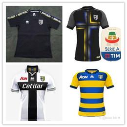 2019 bolas de futebol Top qualidade 2018/19 Parma Calcio 1913 camisa de futebol Levante T-shirt Futbol Roger Morales bola camisa de futebol desconto bolas de futebol
