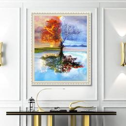 estaciones de pintura Rebajas Bricolaje decoración del hogar 5D temporada diamante pintura diamante bordado Craft punto de cruz regalo para amigos DH0342
