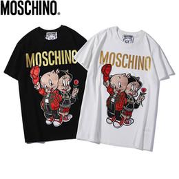 f056f3733e73 Nuevo 2019 Camisetas de verano para hombre Tallas grandes Camiseta de manga  corta Diseñador de ropa Cerdo Bordado de alta densidad Estampación en  caliente ...