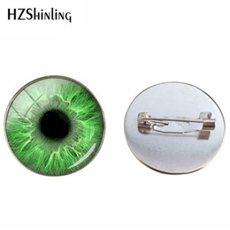 Broche para gafas online-Nueva moda Broches de cristal Cabochon Beauty Punk Cats Eyes Jewelry Pin Coloful Eyes Glass Dome Broches Hombres Mujeres Regalos