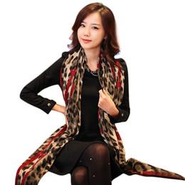 Sciarpa chiffona di seta del leopardo online-Donna Leopard Dot Sciarpa Morbida Chiffon di seta Sciarpa lunga da donna Sciarpe scialle 170x80cm foulard femme