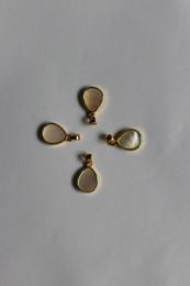 encanto de la pulsera del arco del rhinestone Rebajas gota shap 9 * 13mm encantos DIY collar colgante de piedras preciosas naturaleza piedra cuidado de la salud
