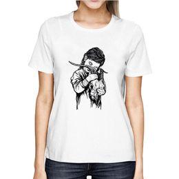 Hembras camisas chinas online-Camiseta femenina Ópera china de Pekín Camiseta vintage Mujer Moda Verano Nuevo Estético gótico Harajuku Streetwear