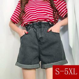 legging saia mais tamanho Desconto S-3xl, 4xl, 5xl Plus Size 2 Cores 2018 Verão Shorts De Cintura Alta Shorts Feminino Denim Shorts Jeans Perna Larga Das Mulheres Shorts (0911) Y19071601