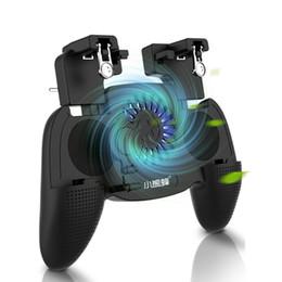spiel-gaming-controller Rabatt 3 in 1 Mobile Gaming Gamepad Joystick Cooler Game Controller Griff 20004000mAh Batterie-Handy-Ladegerät für 4,7 bis 6,5 Zoll Smartphones - Bl