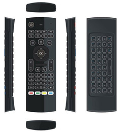 Canada 10pcs MX3 X8 T3 rétroéclairé sans microphone mini 2.4GHz sans fil gyroscope clavier air souris à distance G-capteur pour Android TV BOX dongle cheap keyboard without Offre