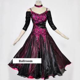 2019 swing tanz kostüme Gesellschaftstanz Wettbewerb Kleider Frauen Gesellschaftskleid Standard Walzer Tanzkostüme Spitze China Swing Kleid tragen günstig swing tanz kostüme