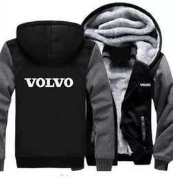 hoodies voitures Promotion 2019 hiver sweat a capuche volvo voiture logo Hommes Femmes Warm Thicken Hoodies Tee-shirts Automne Sweat-Shirts Zipper Veste Polaire Sweat A Capuche Streetwear