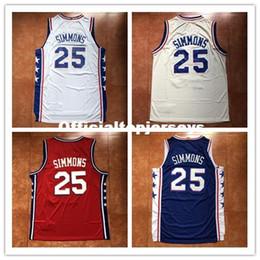 80ef05a30ded Nouveau Mens   25 Ben Simmons Top Maillot De Basket-ball US Taille XS-6XL  Piqué Meilleure Qualité gilet Maillots Ncaa