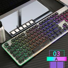 Teclados ergonômicos on-line-K108 Com Fio 38 Teclas de Teclado Para Jogos LED Retroiluminado Usb Ergonômico Único Teclado Mão 7 # M