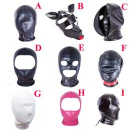 máscaras sex-hood Desconto Cabeça de couro Bondage Máscara Capa, Máscara de Blackout Venda, Role Play Costume, Sex Toys For Couple
