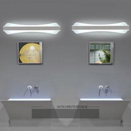 2019 espejos de baño largos 39 cm - 51 cm de largo cálido blanco espejo de maquillaje luces de baño espejo moderno LED luz del hogar accesorio de iluminación lámpara de pared espejo I183 espejos de baño largos baratos