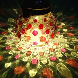 Iluminação solar decorativa para jardins on-line-NOVA Toque luminosa lâmpada solar cor garrafa de vidro Lâmpada de visualização lâmpada decorativa Jardim de Natal luzes dentro da garrafa de vidro T2I5164