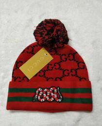 оптовые шляпы индейки Скидка Hot New Europe Новые моды бренд змея мужчин вязаная шапка классический спортивный череп шапки женщин случайный теплый gorros Bonnet пн Шапочки шляпа