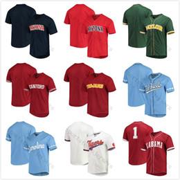 Пользовательские NCAA Колледж Бейсбол Джерси Двойной Сшитые Имя и Номер Для Мужчин Женщин Молодежи Индивидуальные Высокие Качества Для Деталей пожалуйста свяжитесь от