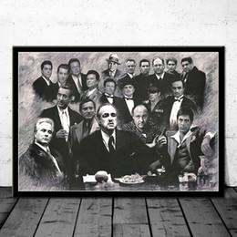 pinturas grandes arboles Rebajas Arte gángsters padrino Uno de los nuestros Scarface Soprano cartel de película de pintura de la lona carteles e impresiones cuadro de la pared Decoración del hogar