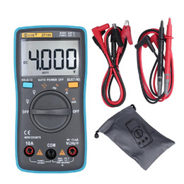 2021 multimetro digitale di frequenza Adeeing ZT100 multimetro digitale 4000 Conti Back Light AC / DC voltmetro di Ohm del tester di frequenza diodo Meter