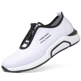 Zapatos de elevación de cuero genuino suelas blandas zapatos casuales de cuero para hombres zapatillas de deporte de confort de respiración zapatillas con cordones elásticos zapatos de aumento de altura para hombre zy406 desde fabricantes