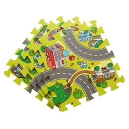 2019 tapis de jeu Tapis de sol Baby EVA Puzzle en mousse, chemin de circulation municipal et carrelage imbriqué, couche de protection de la chaussée (sans bordure) promotion tapis de jeu