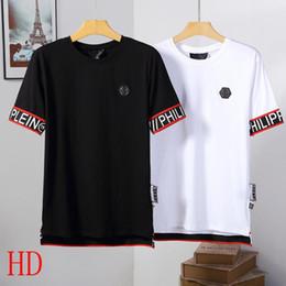 Padrões de camisa para homens grátis on-line-Frete grátis 100% algodão t-shirt dos homens de moda nova venda 3D carta padrão de manga curta t-shirt de verão homens casuais de manga curta t-shirt